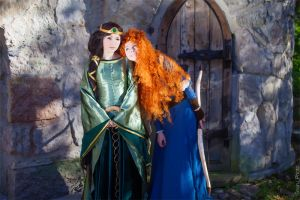 Merida and Elinor Brave by Re-Aska