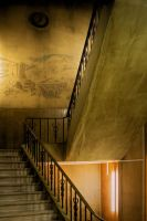 Stairs to the Library-c by StamatisGR