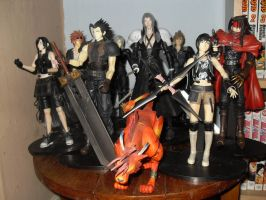 Final Fantasy Group of Play Arts Figures by redwolf18blue