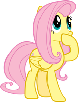 Surprised Fluttershy by piranhaplant1