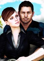 Jill Valentine and Chris Redfield 8 by mk-re55