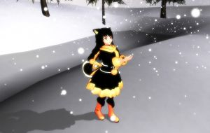 .:MMD:. Sweet Snow... (Finnish Lapphund model) by Miku-Nyan02