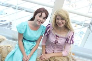 Wendy and Rapunzel by SlightlyIdentical