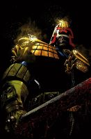 Judge Dredd cover #5 color by nelsondaniel