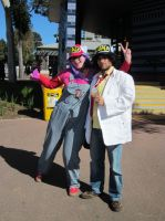 Dr Slump and Arale Cosplay by dwarvenbarbarianrage