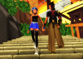 MMD KH - A Simple Walk Together - Terraqua by XxChocolatexHeartsxX