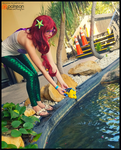 Into the Water Again you Go! (Hipster Ariel) by KrazyKari
