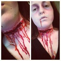 Slit cut gash gouged throat by ScarahScrewdriveR