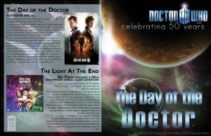 Doctor Who 50th Anniversary Newsletter Page 1 by Ozai-Fanatic