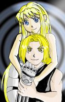 ed and winry colored with pc by Rina--Inverse