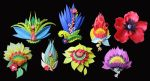 flower pins by Meeellla