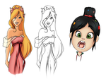 Disney Style Sample Sheet by Rhuni