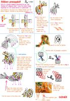 ribbon pineapple tutorial by juls2