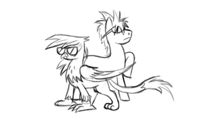 Timber and Gilda - Hangin out by ScottWolf