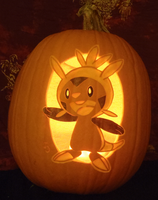 Chespin Pumpkin Light Version by johwee