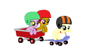 MLP:FIM Wagon Ride Filly Base by The-Crazy-Canadian