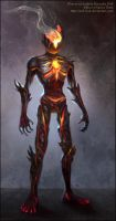 Magma creature concept by Red-IzaK