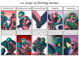 10 ways of flirting meme by AXEL464