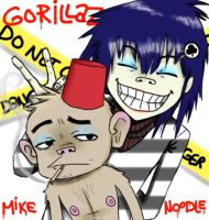 + Mike and Noodle + by Momo-Ninja