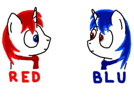 RED and BLU Medics by MedicMarshmallow