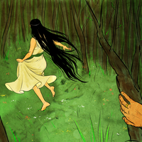 tolkien Luthien in the woods by jubah