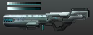 Second Completed Gun (Automated Plasma Rifle?) by VicariouslyGaming