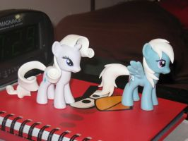 Rarity and Rainbow Dash customs WIP by AleximusPrime