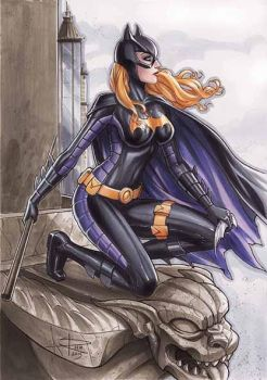 Batgirl copic commission by Sabinerich