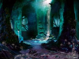 Drowned Catacomb by Lyno3ghe
