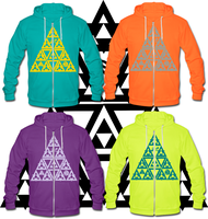 LOZ Goddesses Triforce Hoodies by Enlightenup23