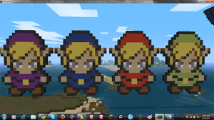LoZ4swords - MC Pixel Art by 12spike22
