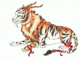Saber tooth tiger OC contest entry by bluemist72
