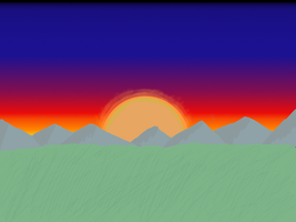 Hills at sunset by Planet-i-Studios