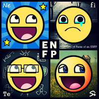 4 Faces of an ENFP. by 4facesmbti