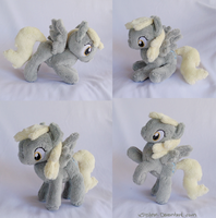Mini Poseable Derpy Plush by xBrittneyJane
