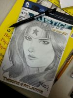 wonderwoman sketchcover pencils by Sajad126