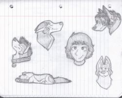 notebook doodles! by alexlovedogz