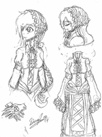 TRADTIONAL: Older Ally Design Sketches by InvaderIka