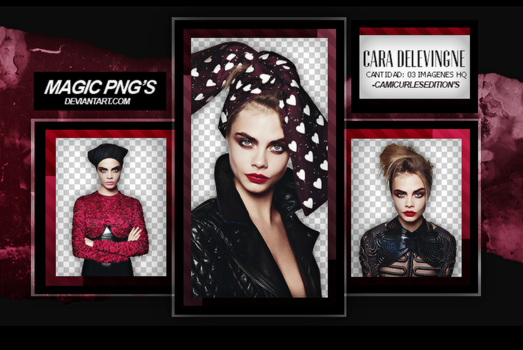 PACK PNG 18|CARA DELEVINGNE by MAGIC-PNGS