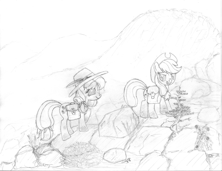 Fluttershy and AJ's High Country Adventure by EponymouslyEponymous