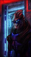 Commission:  Garrus by Gone-Batty