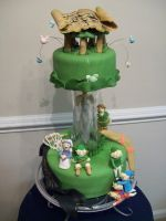 Legend of Zelda cake by see-through-silence