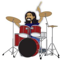 Dave Grohl Cartoon by HarlandGirl