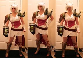 WIP: Riven from League of Legends (Chinese Art) by jillian-lynn