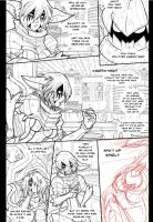 DEATH KING: Page 17 WIP by endshark