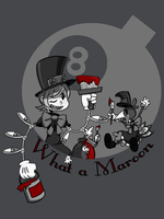 What A Maroon(Black and White) by MedicApprentice