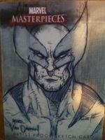 Wolverine Sketch Card by MikeVanOrden