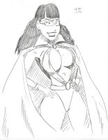 Phantom Lady 10 Minute Sketch by MonkeySquadOne