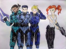 Blue Team by purplekero