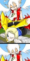 Arukka Vs Android 18 Or Lazuli by amyroseater